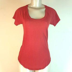 bobi Tops - Bobi Short Sleeve Tee Top Red Small